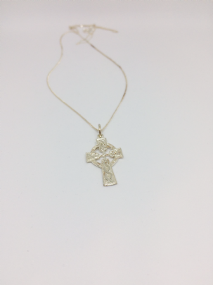 Celtic Silver Cross Necklace